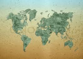 Map Of The World Background World Map World Background On Grunge Stock Photo Colourbox