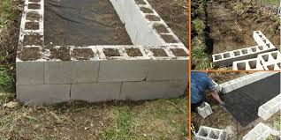 diy raised garden beds with cinder blocks