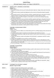 Assembly Supervisor Resume Samples Velvet Jobs