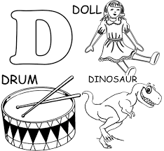 Just click on the alphabet coloring pages that you like and then click on the print button at the top of the page. Letter D Coloring Pages Free Printable Coloring Pages For Kids