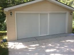 larson retractable garage door screen
