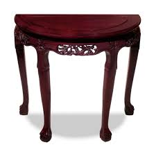 half moon console table. Furniture Cherry Wood Carved Half Moon Console Table