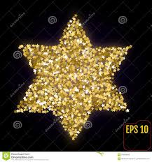 Christmas Lights Star Of David Golden Star Of David Isolated On Black Gold Stars Confetti