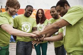 volunteers holding hands in circle sample cover letter for volunteer work