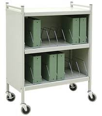 Mobile Chart Rack Mobile Cabinet Style Chart Rack 16 Binder Capacity