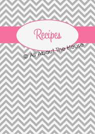 recipes cover page template. Brilliant Cover Cover Page For Binderstemplate It Resume Letter Sample Binder Kit Diy  Printable Project By Binders Recipe In Recipes Page Template A