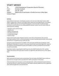 Memo To Board Of Directors Staff memo opportunity to participate in sandia livermore valley 44