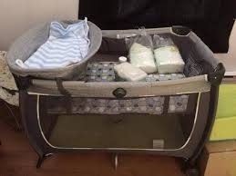 playpen with changing table bath — thebangups table  playpen with