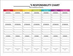 Chore Chart Maker Free Template 75 Valid Kids Job Chart Template Free