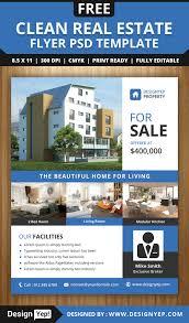 real estate flyer psd template designyep real estate flyer psd template