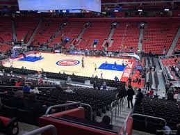 Lca Pistons Seating Chart Little Caesars Arena Section 106 Detroit Pistons