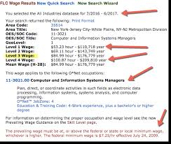 list of minimum wage jobs how to find h1b minimum lca prevailing wage for a job in us location