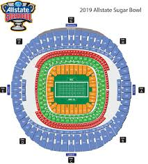 Methodical New Orlean Superdome Seating Chart Superdome