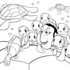 Spectacular Design Coloring Pages Nemo Baby Finding Dory And Friends