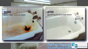 g g tub tile reglazing our work photos bathtub reglazing before after you