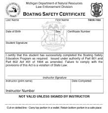 michigan boating safety certificate