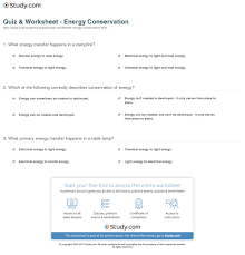 quiz worksheet energy conservation com print what is energy conservation definition process examples worksheet