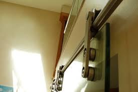 toughened glass door sliding mechanism