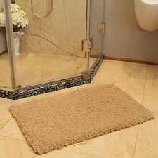 bath mat bathroom rug non slip soft microfiber shower rugs 20x32 inch khaki for bathroom
