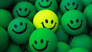 Multiple Green Smiley Emoji With One ...