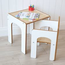 white wooden desk and chair