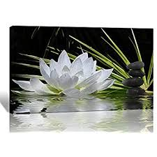 spirit up art modern giclee prints framed flower artwork white lotus and black zen stones picture print to photo printed paintings on canvas wall art decor  on lotus flower canvas wall art with amazon canvas prints wall art white lotus flower and green