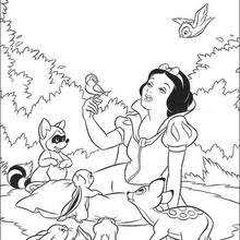 Snow White And Her Friends Coloring Pages Hellokidscom