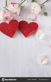 Pictures Of Hearts And Flowers Valentine Day Background Hearts And Flowers On White Wood