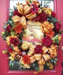 outdoor fall wreaths front door wreath autumn thanksgiving pumpkin gourd be thankful outdoor fall wreaths front door