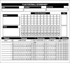 Free Football Stat Sheet Template Excel Flag Score Getpicks Co