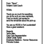 Contact Gold Coach Tours Within Thank You Letter To Coach - Gameis.us