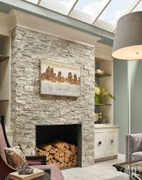 Natural Stone Fireplace Choose Silver Travertine Stacked Natural Stone Ledger Panels To