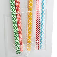 White elfa utility Gift Wrap Rack