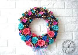 wreath wreaths for front door outdoor decorations wall home decor uk