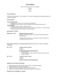 Sample Resume Canada Immigration