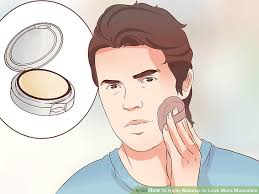 image led apply makeup to look more masculine step 3