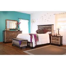 rustic king bedroom set. rustic 6-piece california king bedroom set - antique