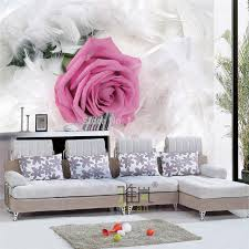 aliexpress com buy beibehang rose white feather wallpaper