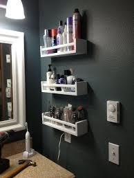 bathroom wall storage ikea. Open Bathroom Shelves From IKEA Pieces Next To The Mirror Wall Storage Ikea B