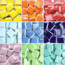 2019 diy colorful mosaic tiles craft garden aquarium decoration natural glass stone and minerals square marble ceramic mosaic from china smoke
