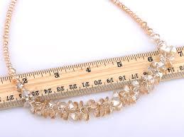 light smokey topaz gathered cer honeycomb swarovski crystal element necklace