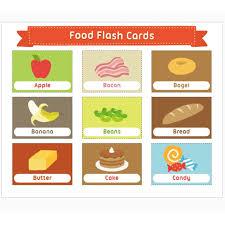 Food Flash Cards Children Learn English Flash Cards A4 Verbs Animals Emotion Food