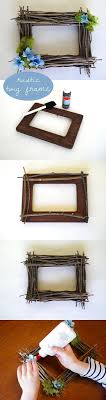 A great way to celebrate spring! This rustic twig frame is a great  afternoon crafts