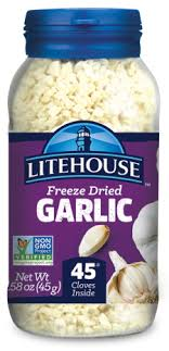 Freeze Dried Food Conversion Chart Instantly Fresh Garlic Freeze Dried Herbs Litehouse