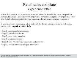 Resume Samples For Retail Sales Associate Cover Letter Resume Retail