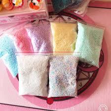 12pcs Sequin Filler Clear Fluffy Polymer <b>Slime</b> Beads Charms <b>Lizun</b> ...