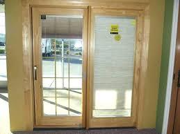 wen premium vinyl sliding patio doors prairie grilles low e glass jeld with blinds