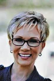 short pixie hairstyles for older women with gles