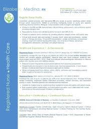 Resume: Resume Format For Nurse Sample Cover Letter Summary Of ...