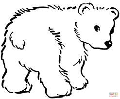 Small Picture Cute Brown Bear Cub coloring page Free Printable Coloring Pages